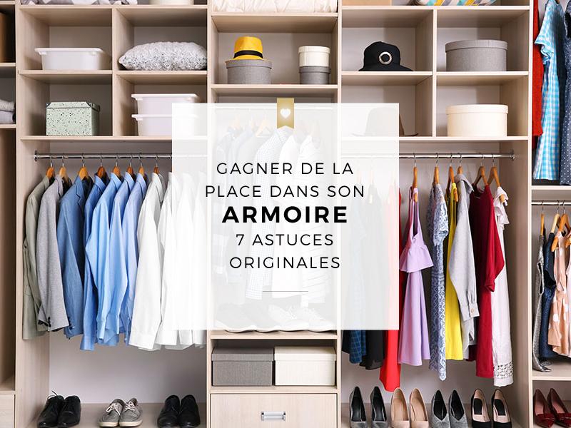 Gagner de la place dans son armoire à vêtements : 7 astuces originales