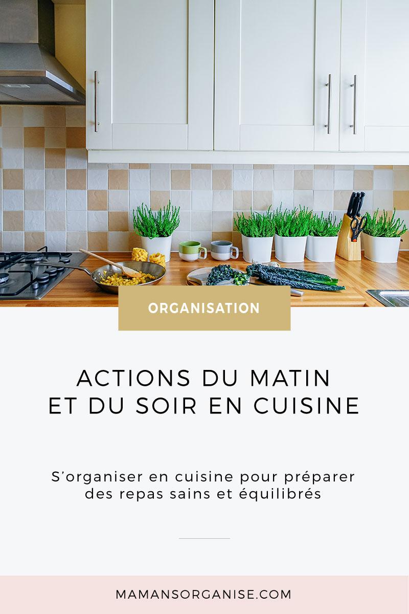 S'organiser en cuisine pour préparer des repas sains et équilibrés