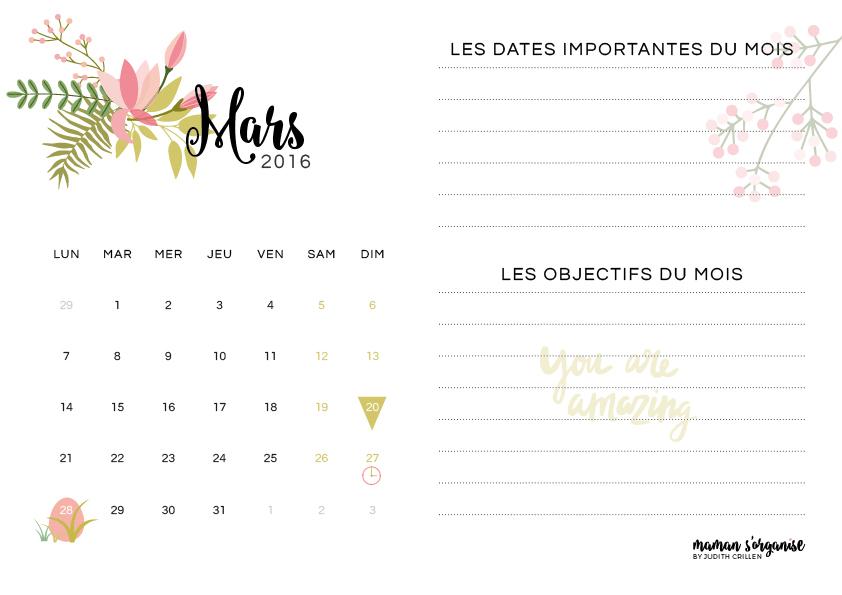 Cliquez ici pour télécharger votre calendrier de mars 2016