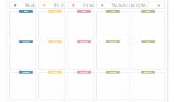 Une semaine bien organisée